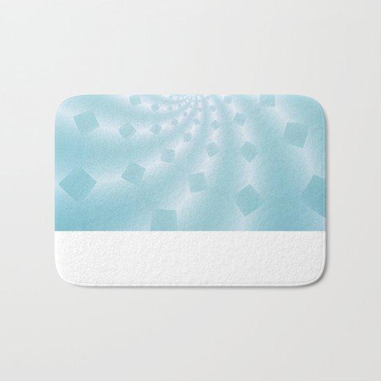 Tess Fractal in Frozen Blue Bath Mat
