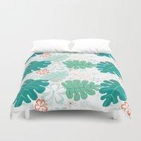 hawaiian Duvet Covers featuring Hawaiian Holidaze by Pamela Hamilton Designs