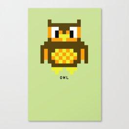 8 Bit Owl Canvas Print