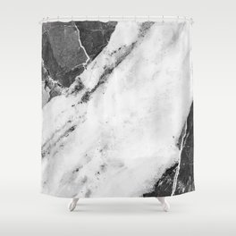 Titan River Black Shower Curtain