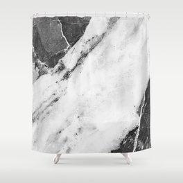 Titan River Black Shower Curtain