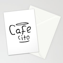 Cafecito Black and White Stationery Cards