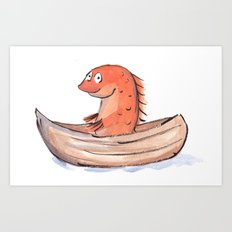 Sailing Goldfish Art Print