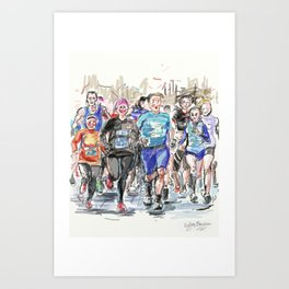 Runners Jogging Art Print