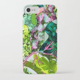 Botanical Heart Mint iPhone Case