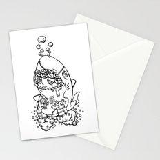 Shark's submarine Stationery Cards