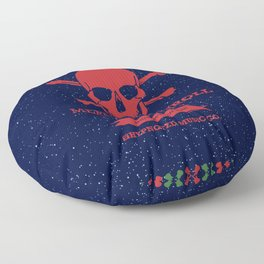 Rock and Roll Christmas Floor Pillow