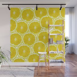 Summer Citrus Lemon Slices Wall Mural