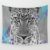 cheetah Wall Tapestries featuring Cheetah by aToby