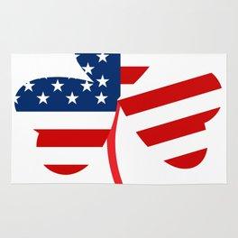 USA American Flag Of Shamrock St. Patrick's Day Irish Rug