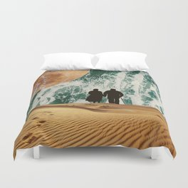 I LOVE YOU TO THE MOON AND BACK #society6 Duvet Cover