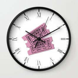 Cinema Tickets Wall Clock