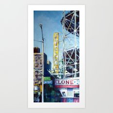 Heading to the Cyclone Art Print