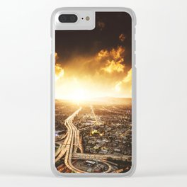highway in los angeles Clear iPhone Case