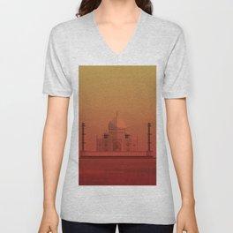 Taj Mahal, India. Unisex V-Neck