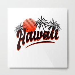 Hawaii Summer Vacation Sunset Metal Print