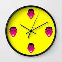 alex turner Wall Clocks featuring Alex Turner by AlexAzopardo