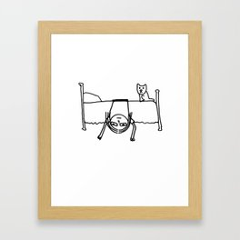 Blair On Bed Framed Art Print