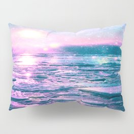 Mystic Waters Vibrant Pink Blue Lavender Pillow Sham