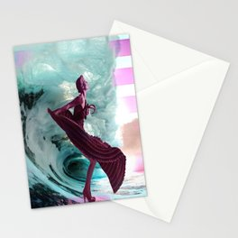 If you're not making waves, you're not underway Stationery Cards