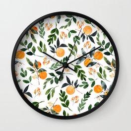 Orange Grove Wall Clock