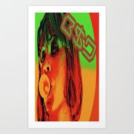 Face of B$D Art Print