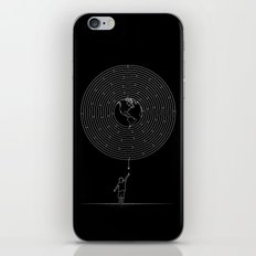 I Dream To Explore The World (Black) iPhone & iPod Skin