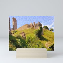 Corfe Castle Mini Art Print