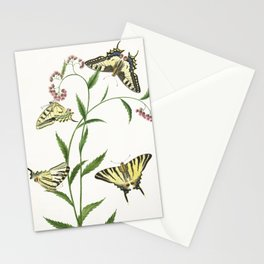 Four Butterflies on Flowers, 1747 Stationery Cards