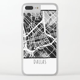 Dallas City Map Clear iPhone Case