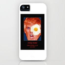 POTUS Trump in history. iPhone Case