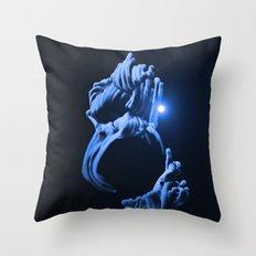 Digital Anemone Throw Pillow