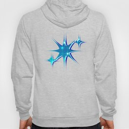 Abstract northern stars and shine on blue sky. Hoody