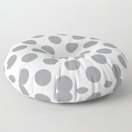 Grey Large Polka Dots Pattern Floor Pillow