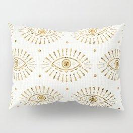 Evil Eyes Gold Pillow Sham