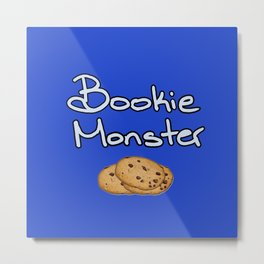 Bookie Monster Metal Print