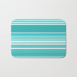 Gradient blue Bath Mat