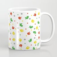 animal crossing Mugs featuring Animal Crossing by Bradley Bailey