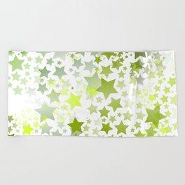 Green Stars Beach Towel
