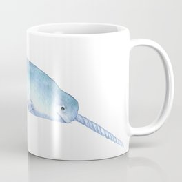 Narwhal Watercolor Coffee Mug