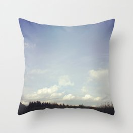 morning strolls Throw Pillow