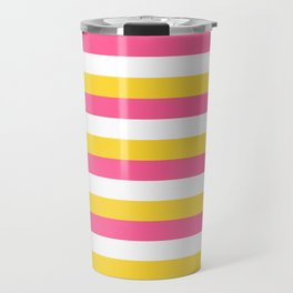 Simple striped design with beautiful bright summer colors Travel Mug