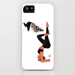 Yogi girl funny headstand - yoga teacher - yoga fun - expectation vs reality iPhone Case