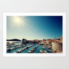 Old Town Harbor - Dubrovnik, Croatia Art Print