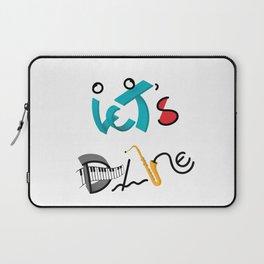 Type Let's Dance Laptop Sleeve