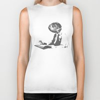 the office Biker Tanks featuring Office worker by Reaper