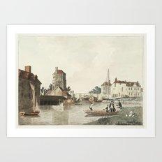 Joseph Mallord William Turner 1775–1851   Folly Bridge and Bacon's Tower, Oxford 3 Art Print