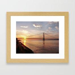 Humber Bridge Sunset Framed Art Print