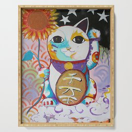 LUCKY CAT Serving Tray