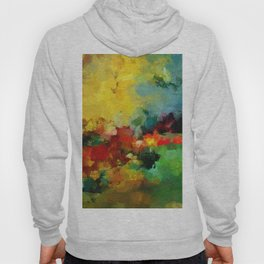 Colorful Landscape Abstract Art Print Hoody